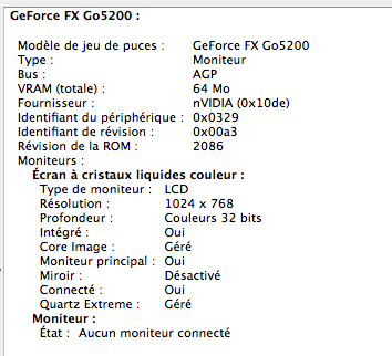 GeForce FX 64 Mo
