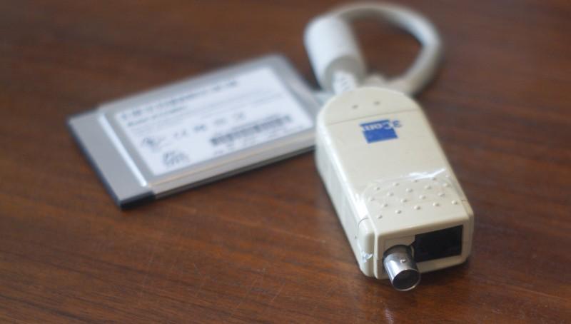 PCMCIA vers Ethernet (en BNC ou RJ45, 10 Mb/s)