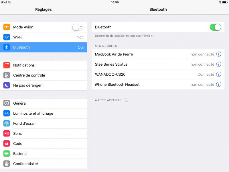 iPad connecté (et sans Wi-Fi)