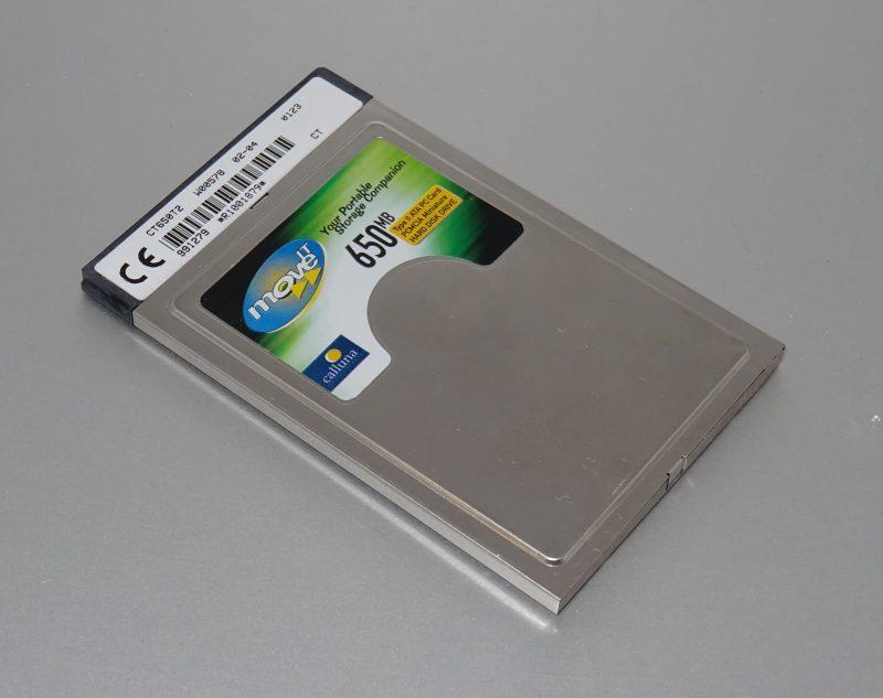 Un disque dur PCMCIA