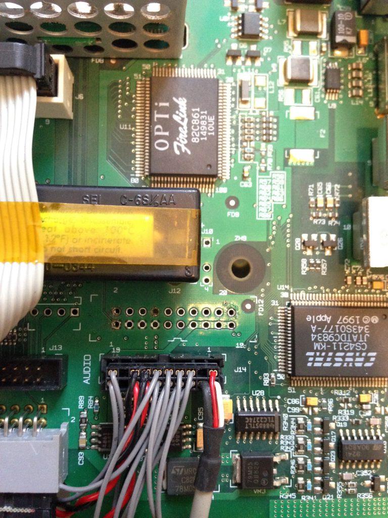 Les traces du lecteur de disquettes