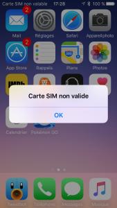 SIM non valide