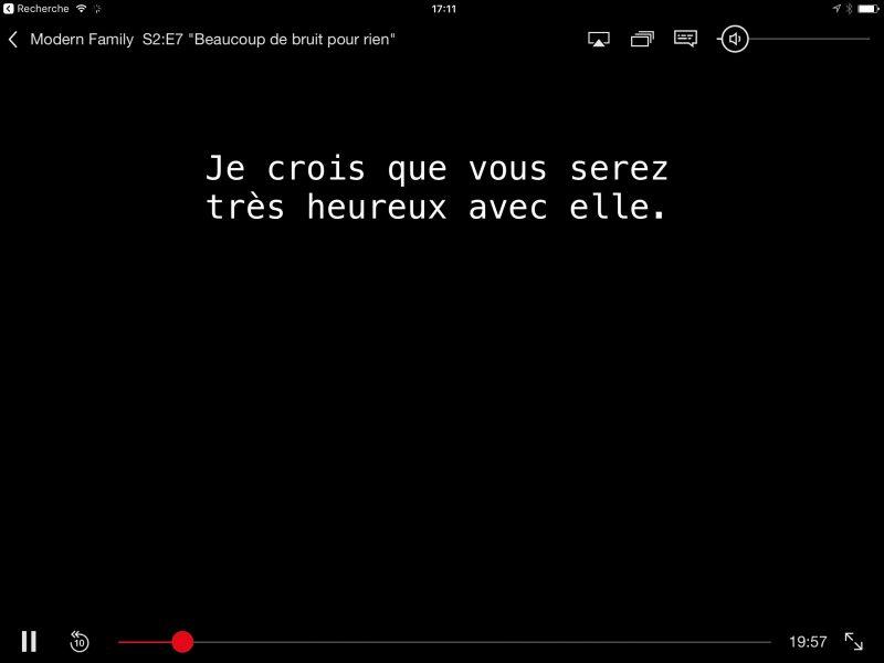 Netflix sous iOS 10
