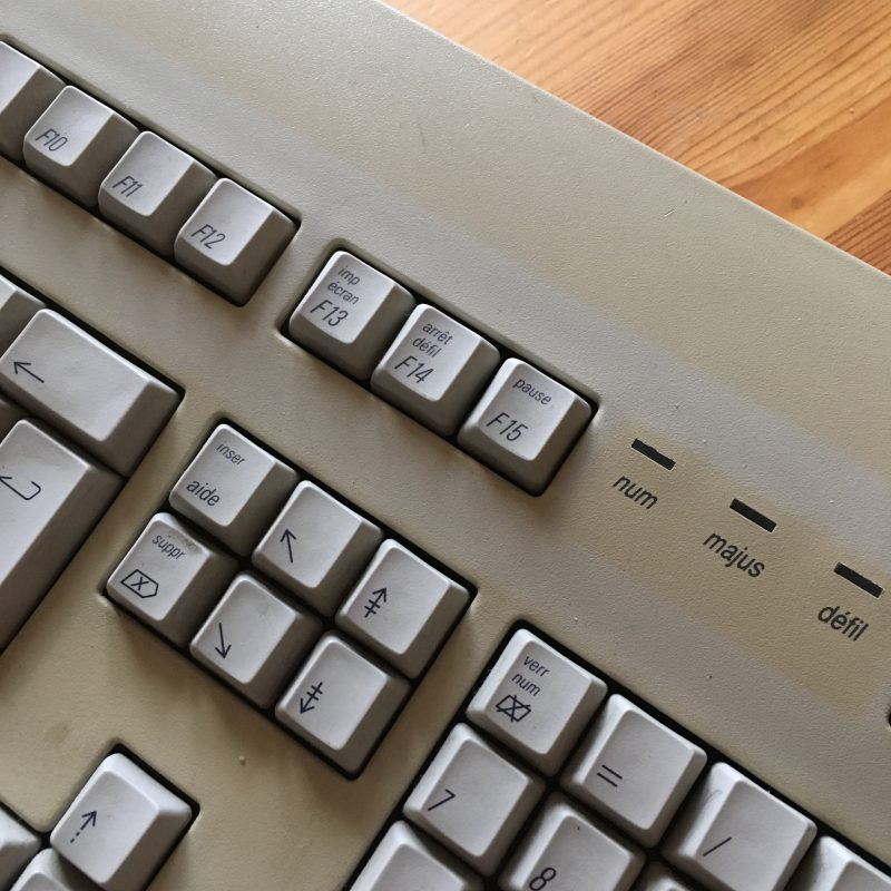 La touche sur mon clavier