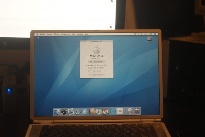 Le fameux écran des PowerBook