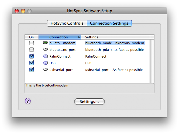 logiciel hotsync