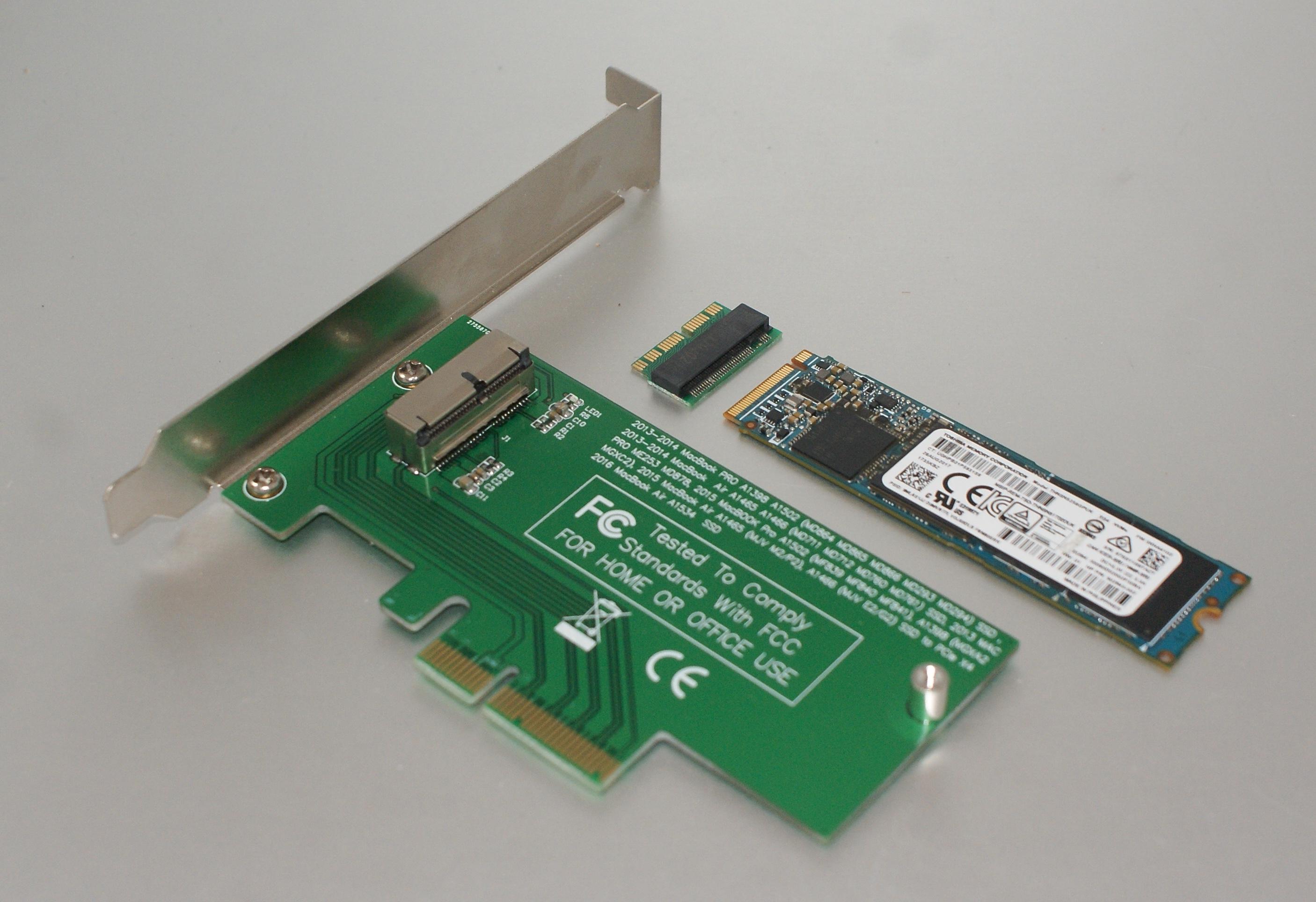 SSD MACBOOK 2013 2014 2015 2016 2017 2018 M.2 NGFF Adapter M2 NVME AHCI